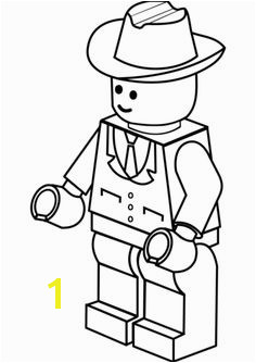 Lego Man in Cowboy Hat Coloring page Lego Coloring Pages Coloring Pages For Kids
