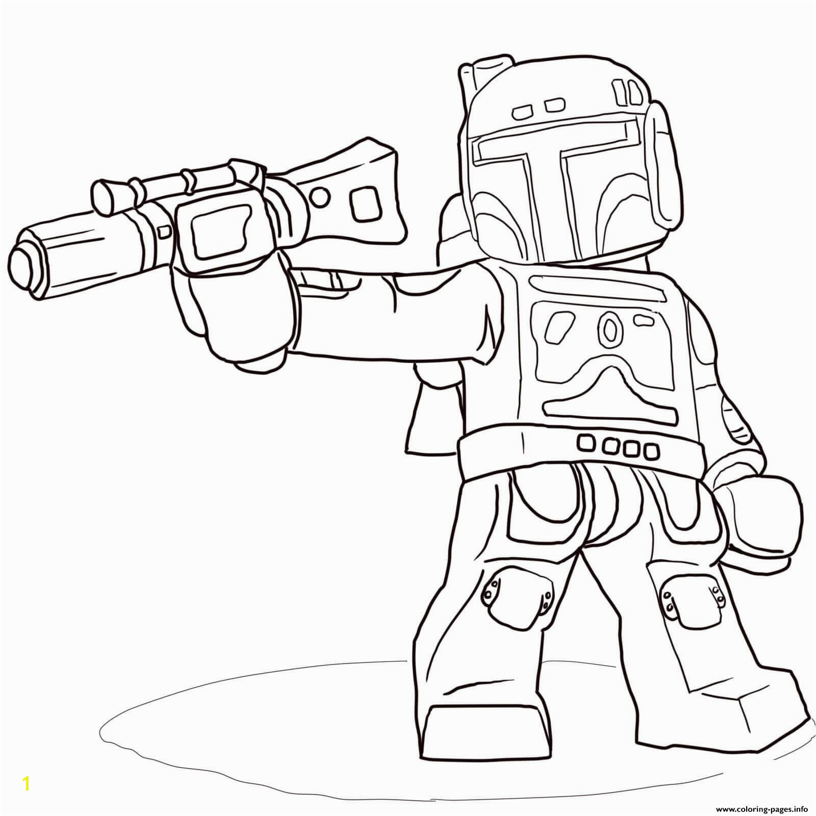 Lego Star Wars Boba Fett Coloring Pages Lego Star Wars Boba Fett Coloring Pages Printable Collection Schön