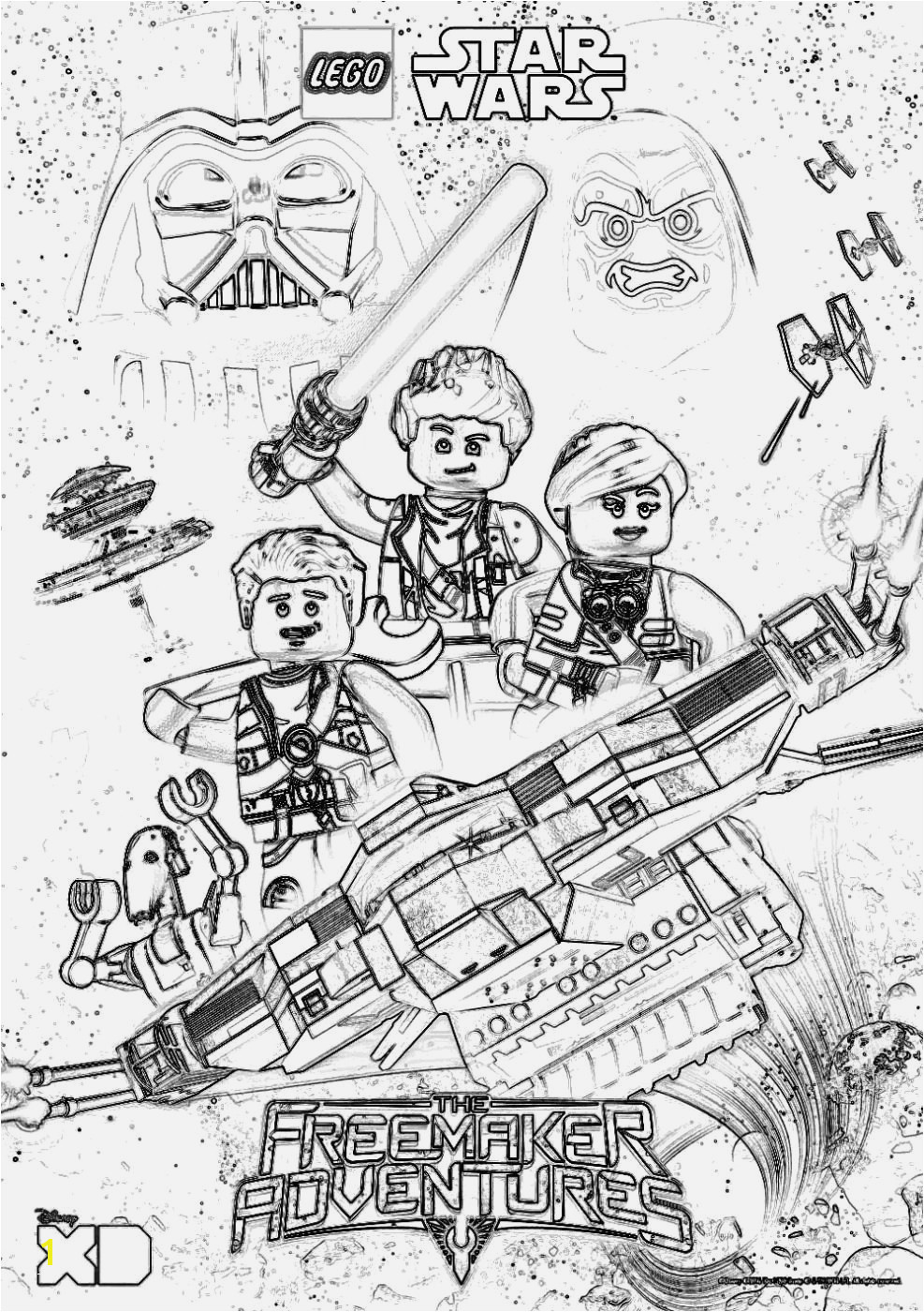 Lego Star Wars Coloring 21csb