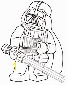 Lego Star Wars Darth Vader coloring page from Lego Star Wars category Select from