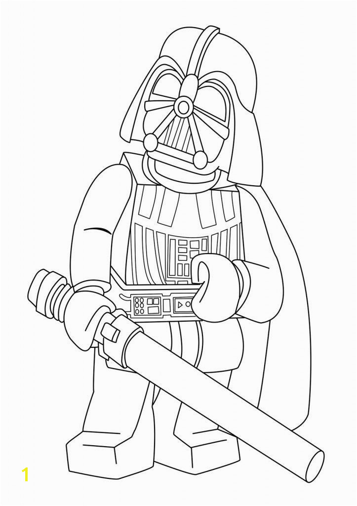 Lego Star Wars Darth Vader Minifigure Coloring Page