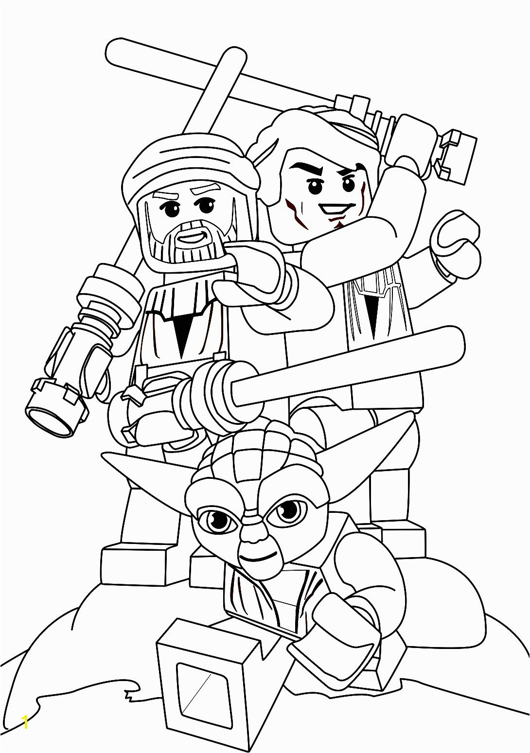 Lego Star Wars Coloring Pages Darth Maul Genial Malvorlagen Lego Star Wars · Coloring Page Yoda