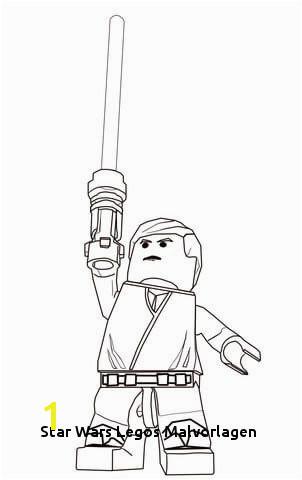 Lego Star Wars Luke Skywalker Coloring page