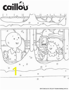 Caillou Holiday Fun – Let it Snow Coloring Sheet