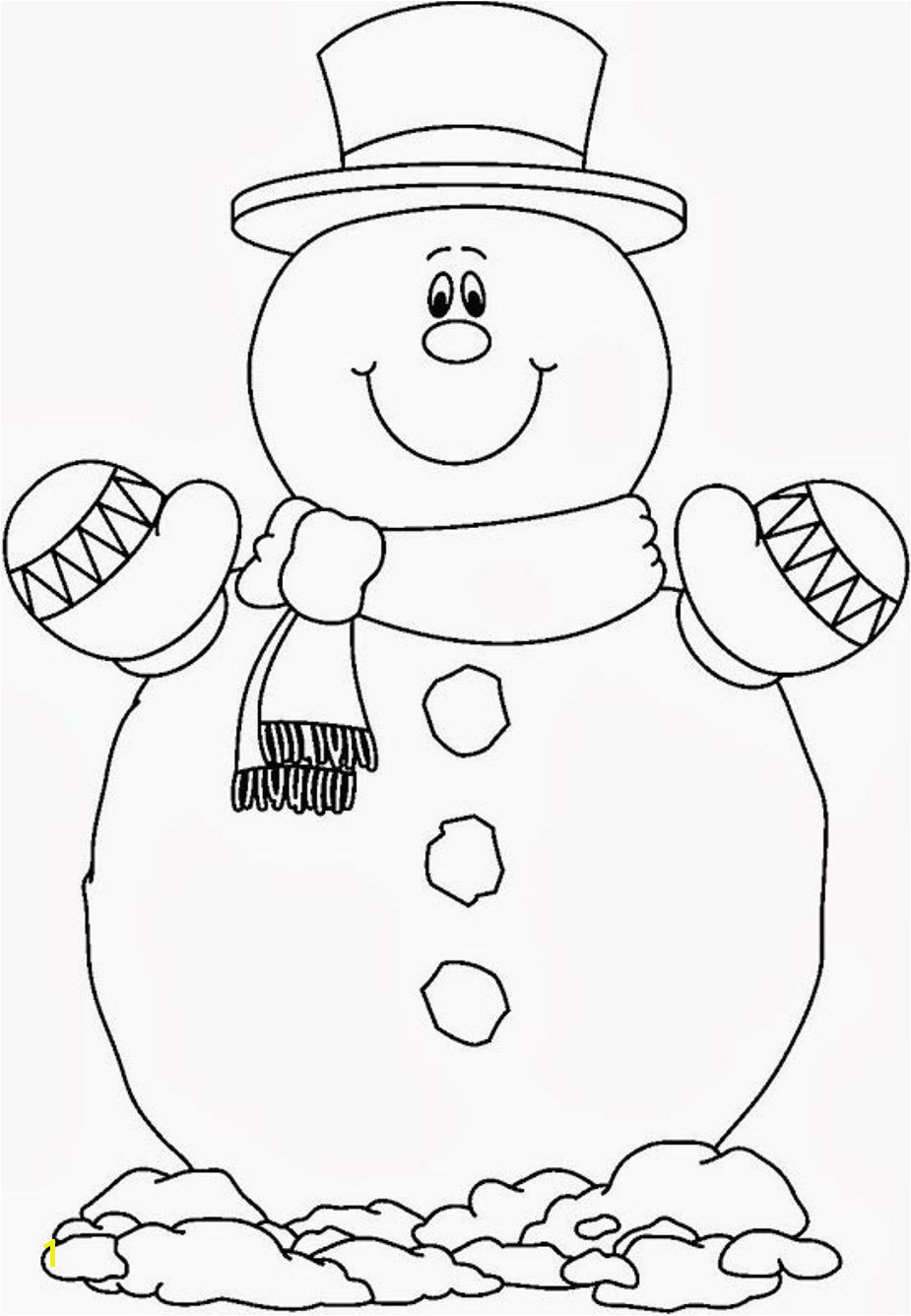 Let It Snow Coloring Pages Smilling Snowman Coloring Pages Free Christmas Crafts