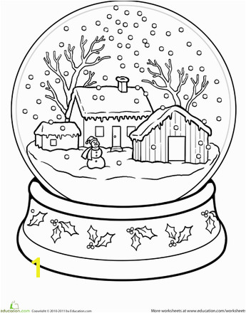 Let It Snow Coloring Pages Snow Globe Coloring Page Christmas Crafts for Kids