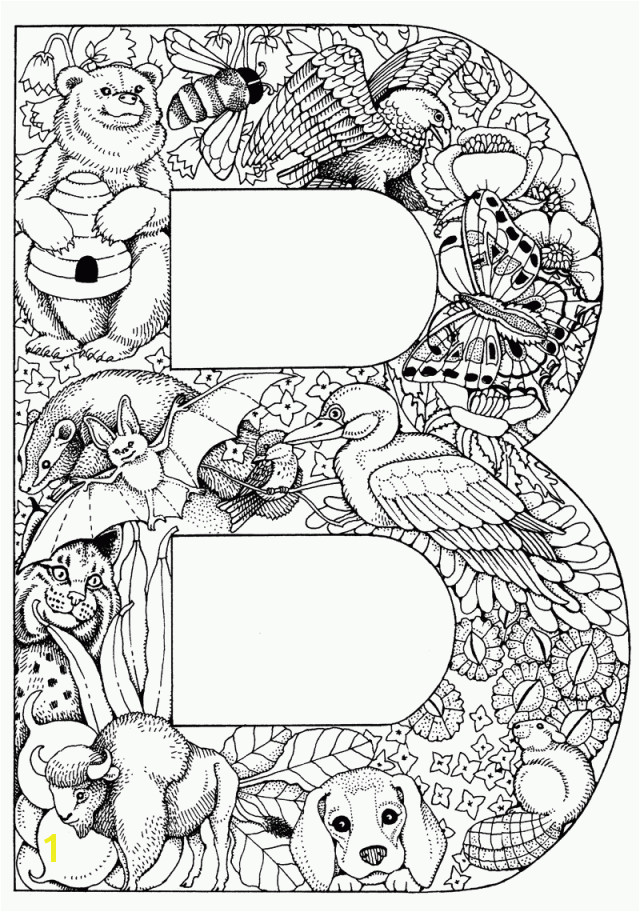 Things that start with B Free Printable Coloring Pages