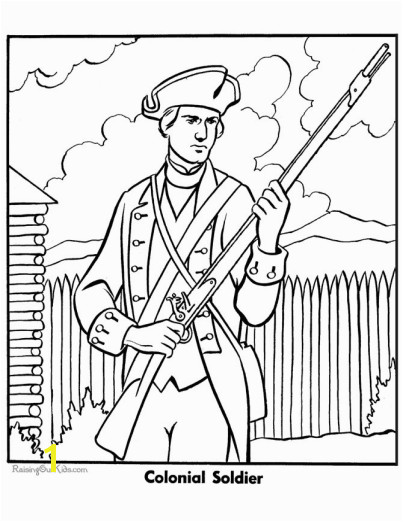 Military Coloring Page to Print Colonial Sol r