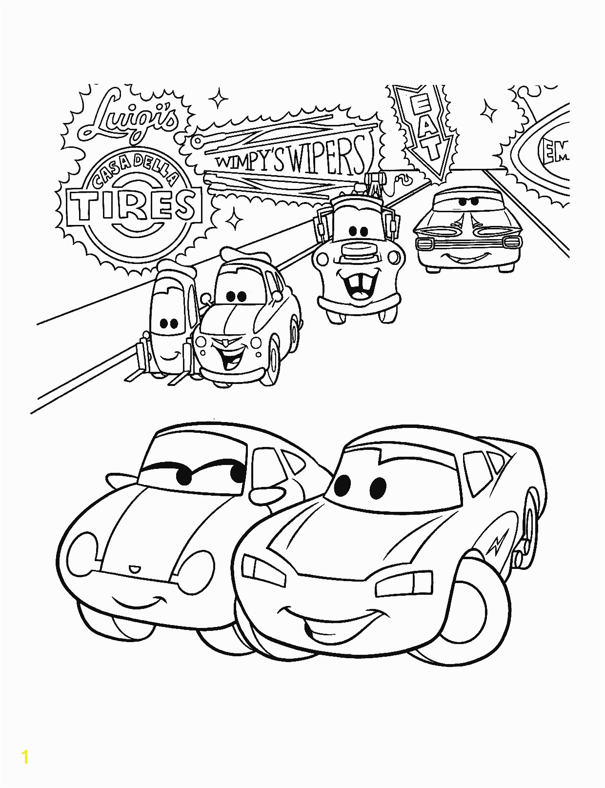 Lightning Mcqueen and Mater Coloring Pages to Print Lightning Mcqueen and Friends Coloring Pages Coloring Pages