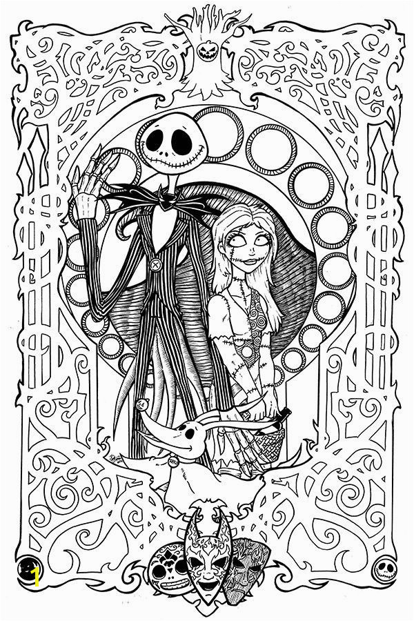 Free Printables Nightmare Before Christmas Coloring Pages