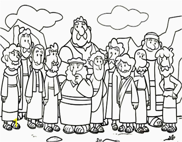 Cartoon Od Jesus Disciples Coloring Page Little Big Planet Printable Coloring Pages