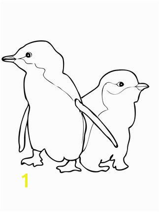 Little Blue Penguin Coloring Page Two Little Blue Penguins Coloring Page