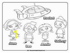 Little Einsteins Rocket Ship Coloring Page 39 Best Bailey S First Bday Images On Pinterest