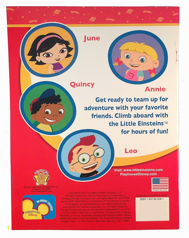 Little Einsteins Rocket Ship Coloring Page Amazon Little Einsteins Activity Book W Stickers 1ct toys