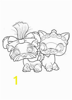 BFFs forever coloring page Littlest Pet Shop Kids n Fun