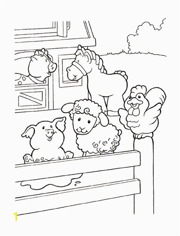 coloring page Little People Little People