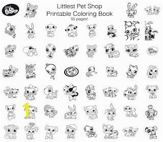 Littlest Pet Shop Free Printable Coloring Book 55 pages