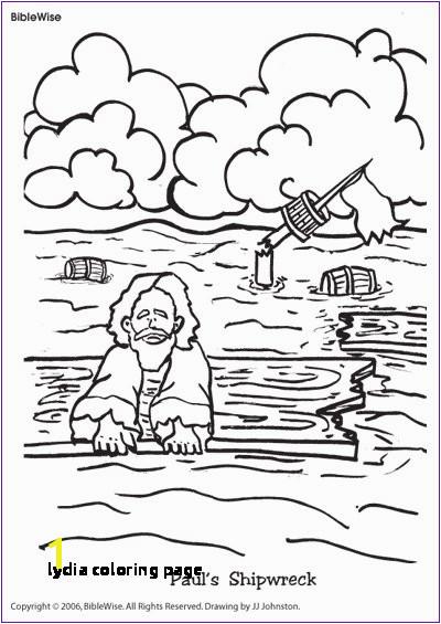 Lydia Coloring Page Coloring Paul S Shipwreck Kids Korner Biblewise