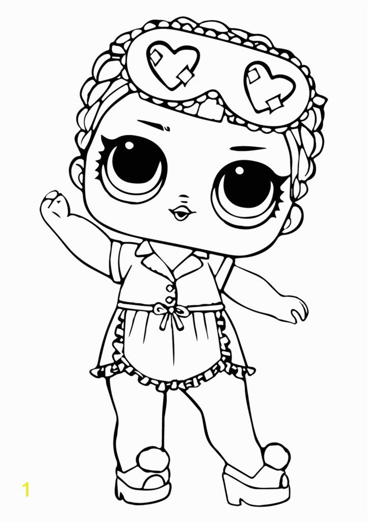 LOL Surprise Coloring Sleeping B B Lol Dolls Coloring Pages To Print Coloring Pages