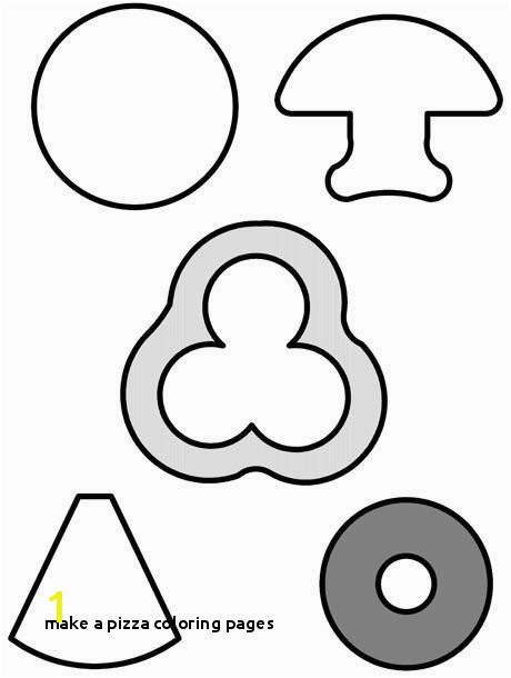 Make A Pizza Coloring Pages Felt Food Shape Texas Reading Club