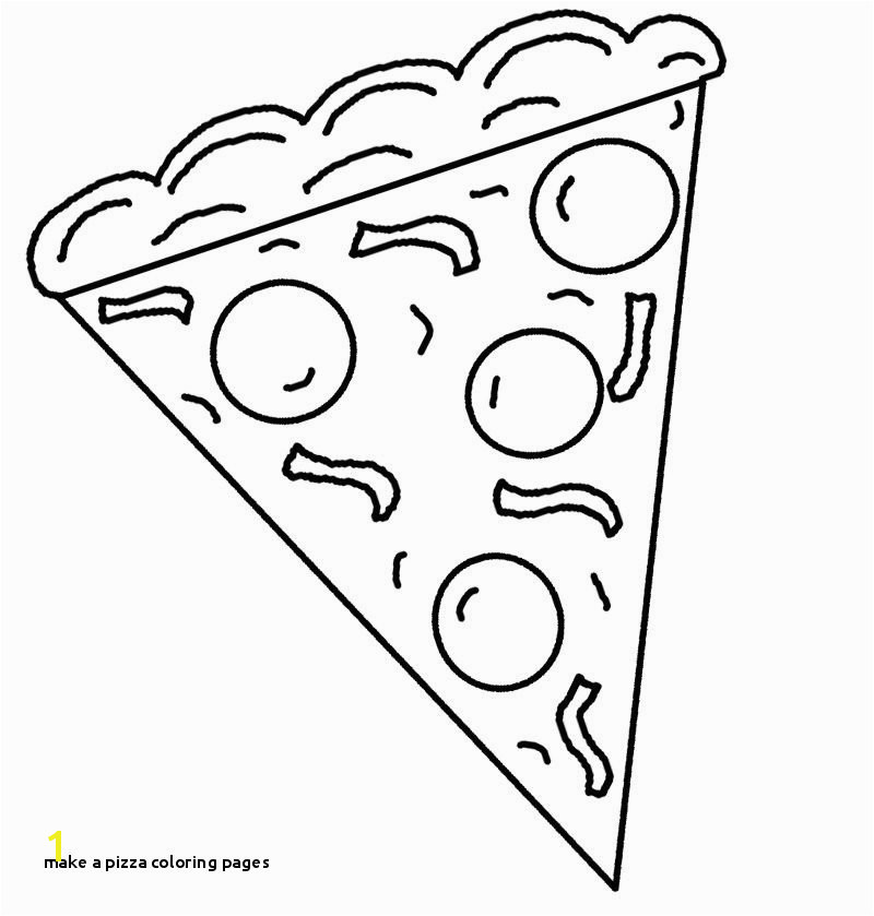 Slice Pizza coloring pages for kids Pre deti Pinterest