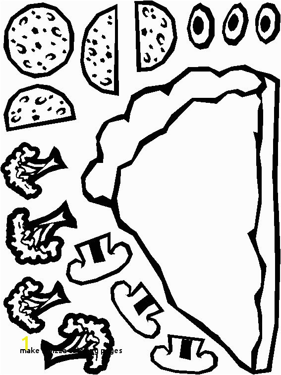 Make A Pizza Coloring Page 28 Make A Pizza Coloring Pages
