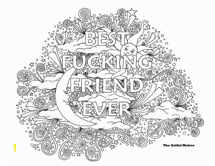 BFF Best Fucking Friend Ever Adult Coloring by TheArtfulMaker