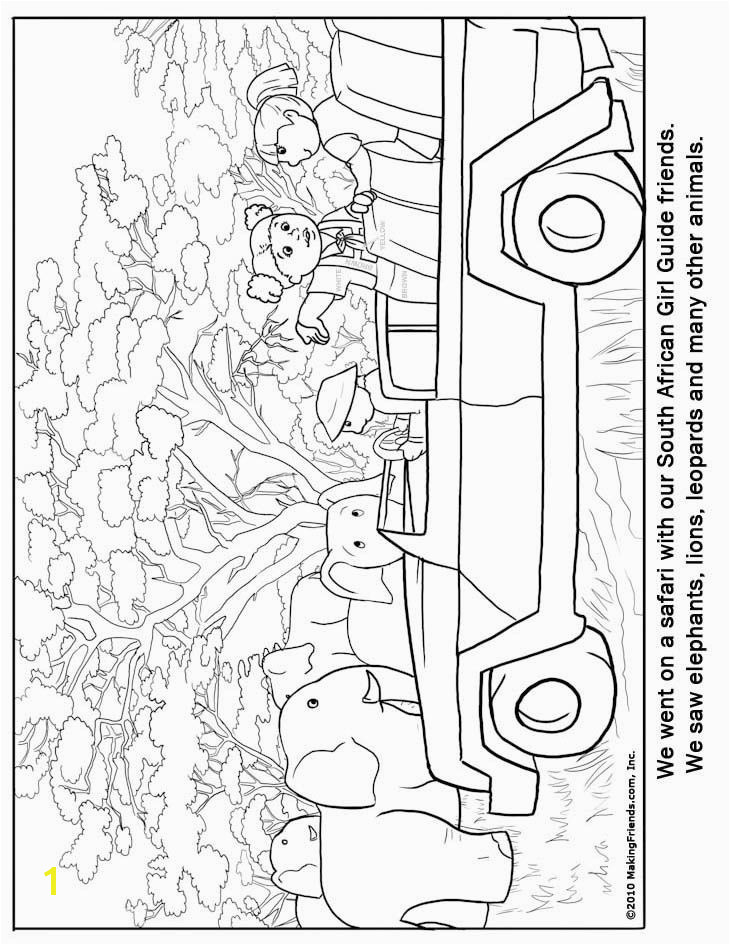 South African Girl Guide Coloring Page for South Africa Print multiple copies to use as a gathering activity to help girls acquainted with each other