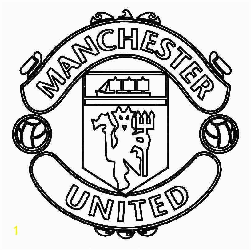 Man Utd Coloring Pages Print Manchester United Logo soccer Coloring Pages or Download