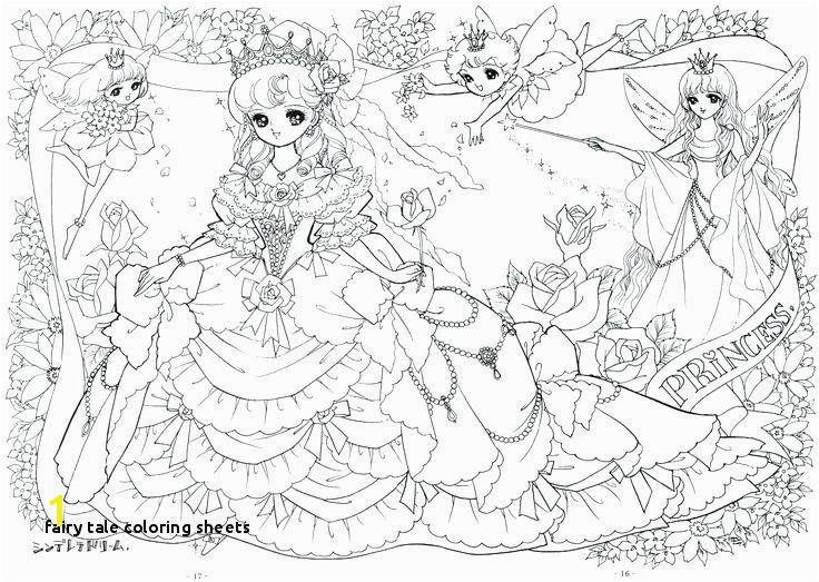 Manga Coloring Pages Awesome Fairy Tale Coloring Sheets Coloring Manga Pages Very Detailed Anime 15