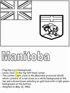 Manitoba Flag Coloring Page 196 Best School Canada Images