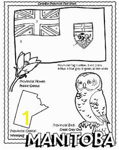 Canadian Province Manitoba coloring page Helpful for memory work with Claritas Classical Academy Cycle 3