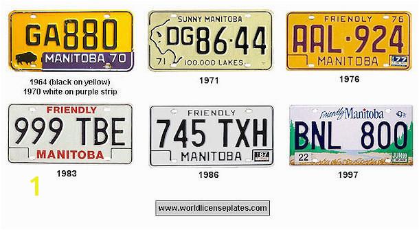 Manitoba License Plates