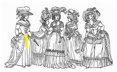 Costume La s Printable Coloring Page Marie Antoinette esque