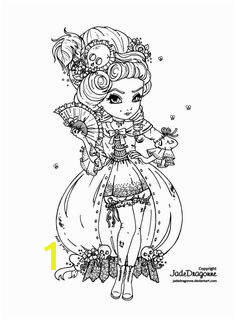 Marie Antoinette s e back Lineart Coloring Book PagesColoring