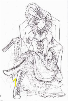 Coloring Pages For Girls Marie Antoinette Paper