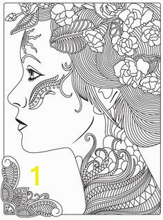 Women coloring book page app for adults mandala relax by GoodSoftTech