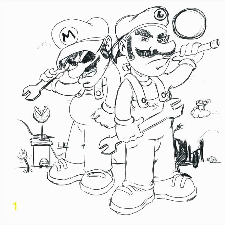 Mario Bros Coloring Pages Mario Bros Coloring Pages