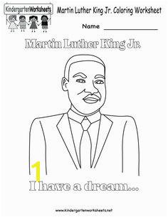 Martin Luther King Jr Coloring Worksheet Free Kindergarten Holiday Worksheet for Kids
