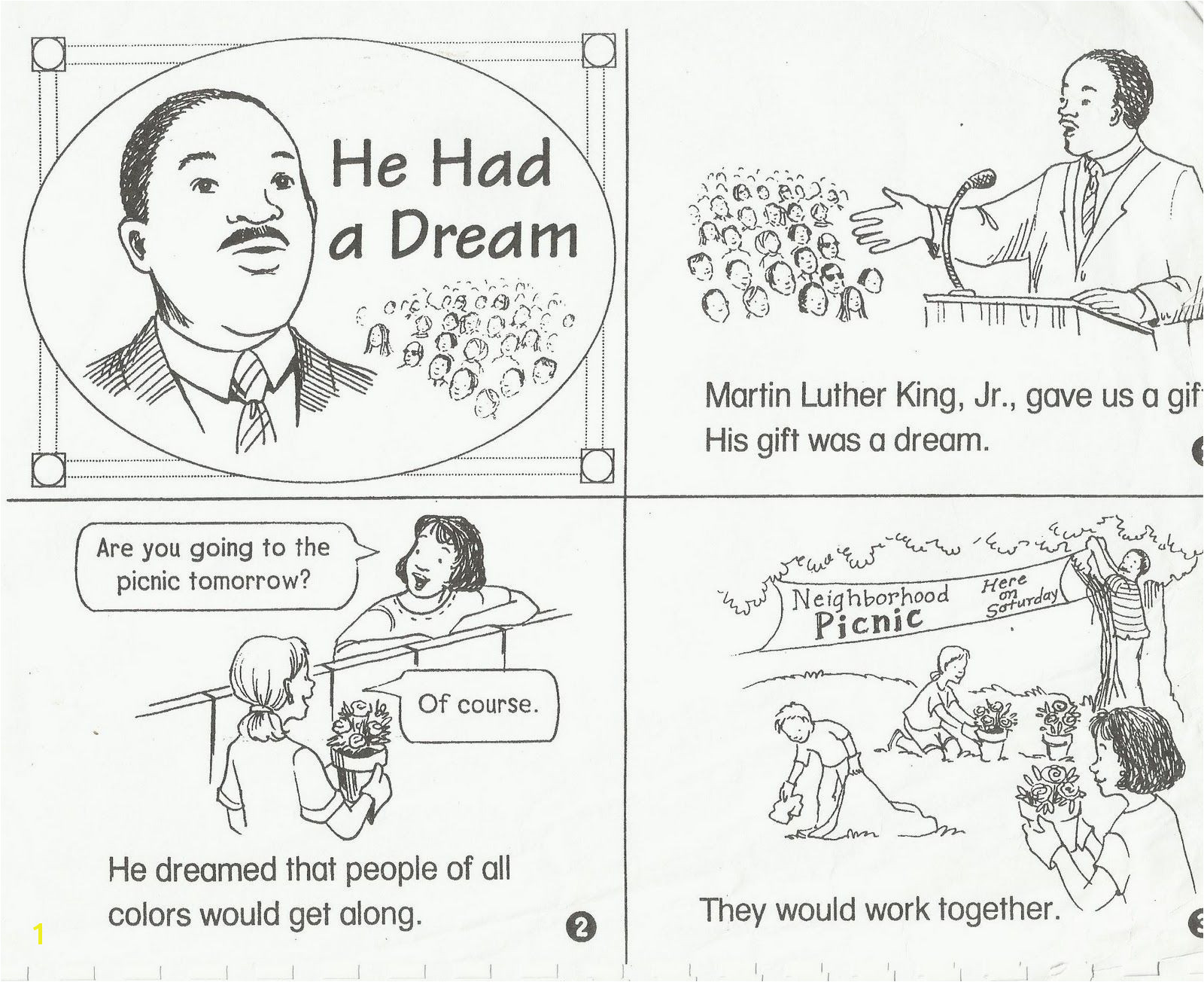 Martin Luther King Jr Coloring Pages for Preschoolers Worksheet Free Martin Luther King Worksheets Fiercebad Worksheet