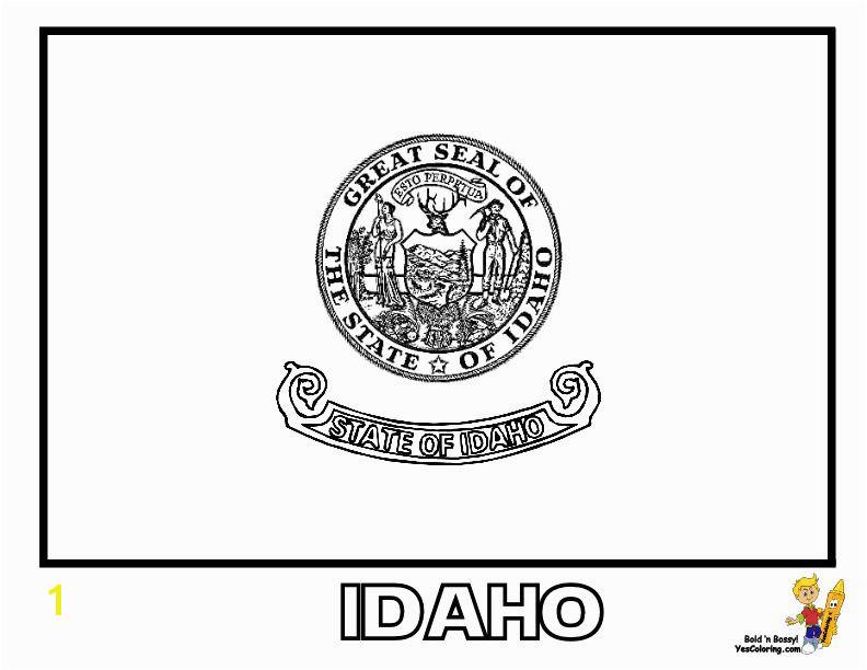 gallant state flags coloring idaho montana free flags idaho state