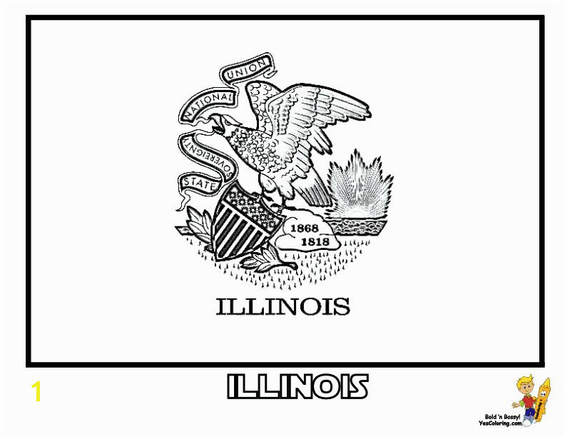gallant state flags coloring idaho montana free flags illinois state