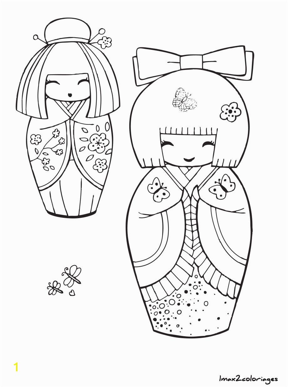 "iColor ""Kokeshi Dolls"" etcc poupee japonaise"