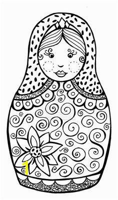 Matriochka Noel Russe Kokeshi Dolls Matryoshka Doll Cool Coloring Pages Coloring Sheets