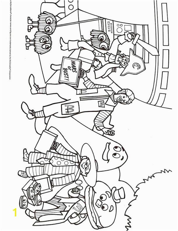 mcdonalds happy meal coloring page activities sheet ronald mcdonald gang – Kids Time