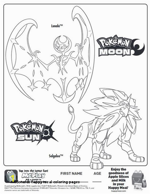 Mcdonalds Happy Meal Coloring Pages Happy Meal Coloring Sheets – Page 4 – Kids Time