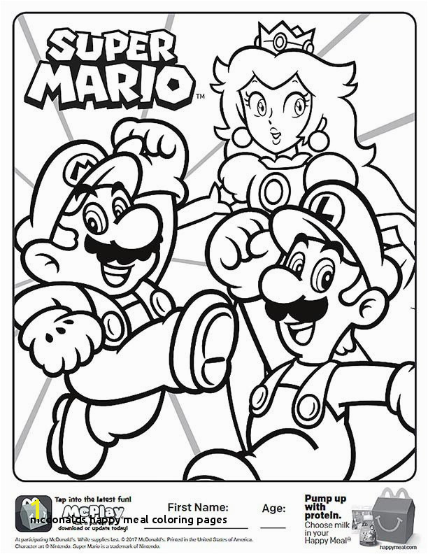 Happy Meal Coloring Sheets – Page 6 – Kids Time