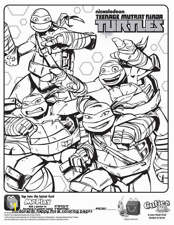 Mcdonalds Happy Meal Coloring and Activities Sheet – Teenage Mutant
