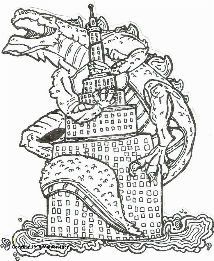 Godzilla 1998 Malvorlagen Mechagodzilla Coloring Pages New Perfect Godzilla 1998 Coloring