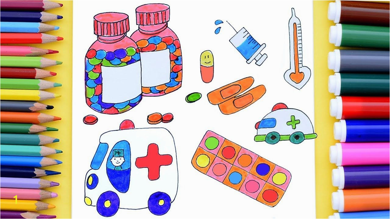 How to Draw Doctor Medical Kit for Kids Medical Coloring Pages Art Col